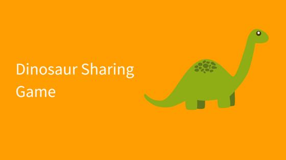 Dinosaur Sharing Game social skills