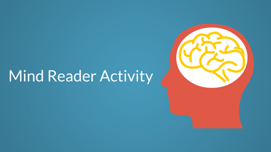Mind Reader Activity Individuals ASD