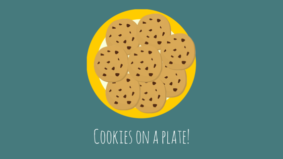 Cookies on a plate file folder