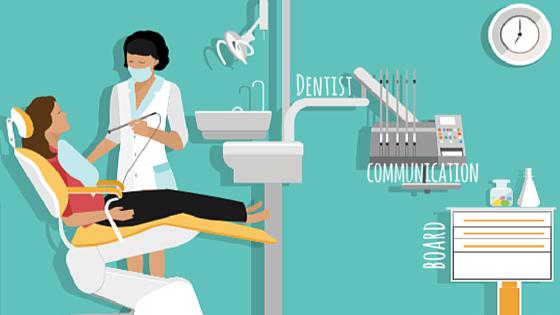 Dentist communication board