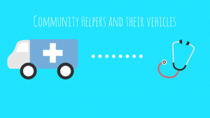 Community Helpers and their vehicles