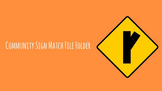 Community Sign Match File Folder