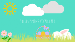 Spring Resource Extravaganza Activity: Three Clues