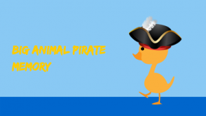 Big Animal Pirate Memory Game