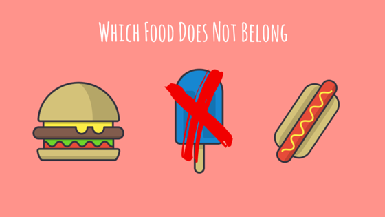 Which food does not belong