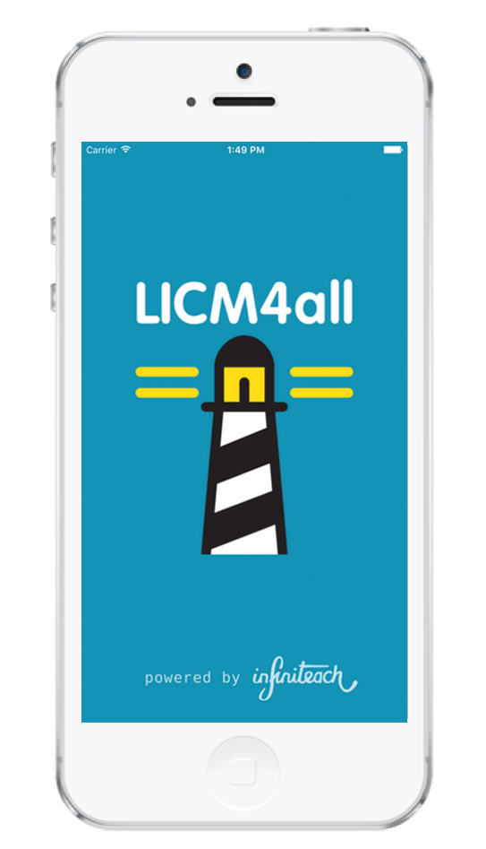 LICM4all home screen