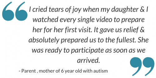 I cried tears of joy as my daughter and I watched every single video. It prepared us to the fullest. Parent of child with autism