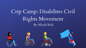 Crip Camp: Disabilities Civil Rights Movement
